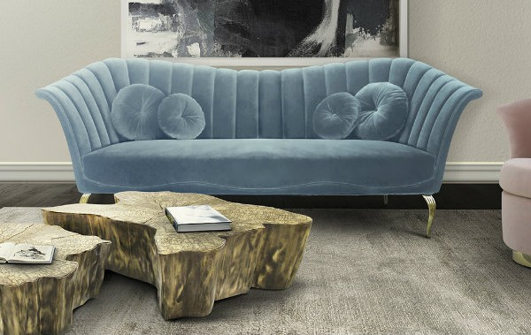 blue sofa Blue Sofa Inspirations for Your Living Room caprichosa sofa besame chair gia chandelier koket projects 1 600x379
