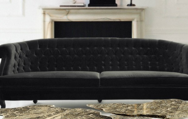 Black sofa creates ultimate design at home Black sofa creates ultimate design at home monet acrylic base center 600x381