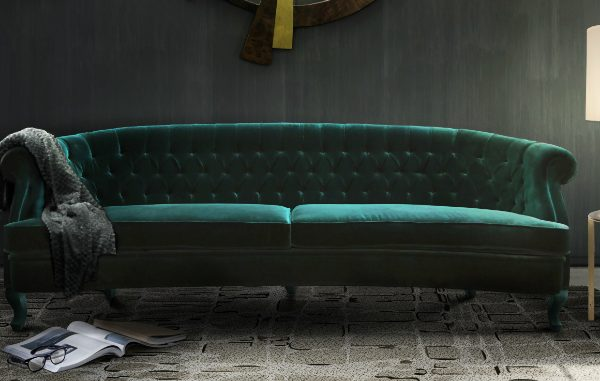 Moody green sofas on the top of the 2018 design trends living room sofa How To Decorate Above Your Living Room Sofa How To Decorate Above Your Living Room Sofa 600x381
