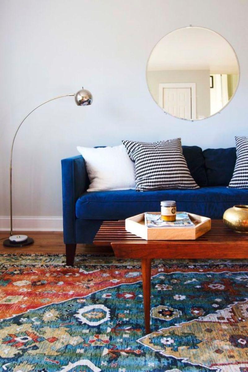 Blue Velvet Sofas To Your Living Room Decor Modern Sofas