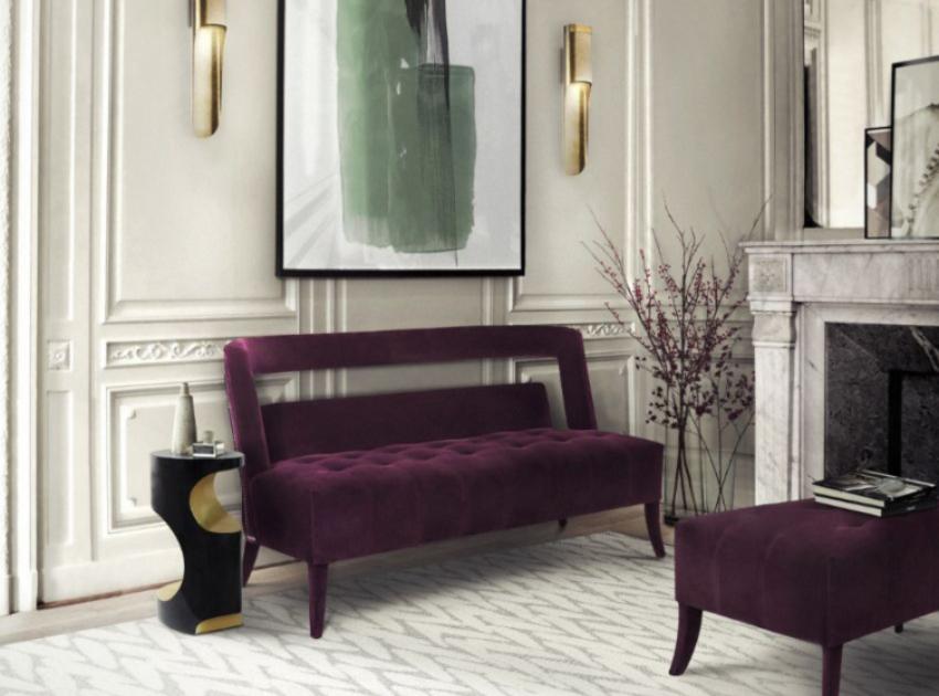 Purple Room Modern Sofas, Purple Living Room Furniture