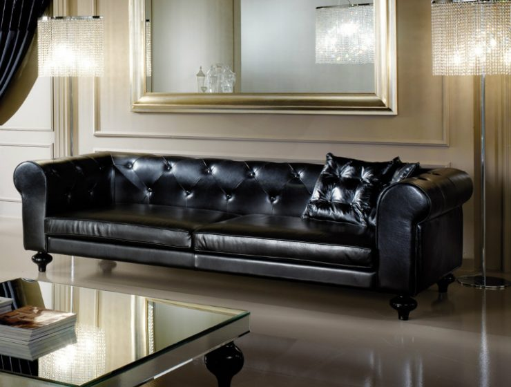 leather sofas Leather Sofas – How This Classic Piece Can Also Be A Modern Addition leather sofa juliettes interiors with low leather sofa 740x560